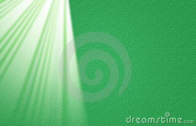 Green Lace with Light Rays