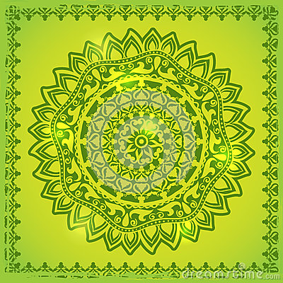 Green Lace ornament