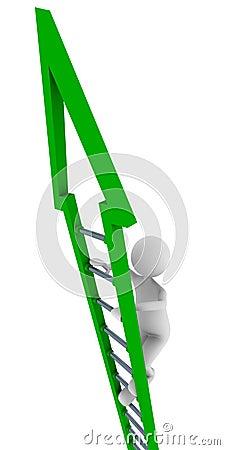 Green ladder of success