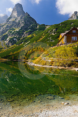 Green lake in Tatra Mountains