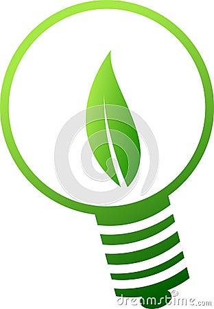 Green lamp symbol