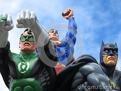 Green Lantern, Superman and Batman Editorial Photo
