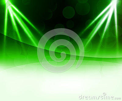 Green Laser Abstract Background