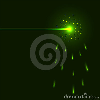 Free Green Laser Beam Royalty Free Stock Images - 12980909