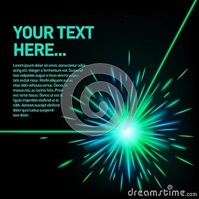 Green laser beam explosion