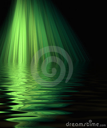 Free Green Laser Beams On Water Royalty Free Stock Photo - 2184055