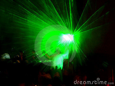 Green laser on the stage 2