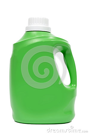 Green Laundry Detergent Bottle
