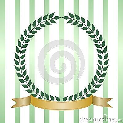Green Laurel Wreath With Banner