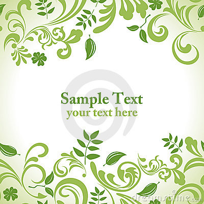 Free Green Leaf Banner Set Royalty Free Stock Image - 19197236
