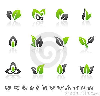 Abstract Background With Leaf Design Royalty Free Cliparts ...
