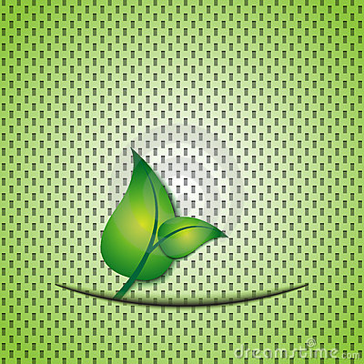 Green leaf eco background