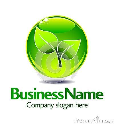 Free Green Leaf Logo Stock Image - 22446751