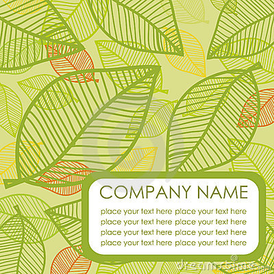 Green leaf. Vector background