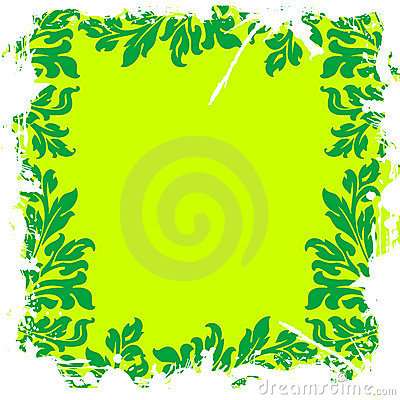 Green leafy floral background