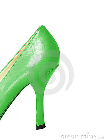 Free Green Leather High Heel Shoe Royalty Free Stock Photography - 4480097