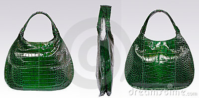 Green leather woman bag
