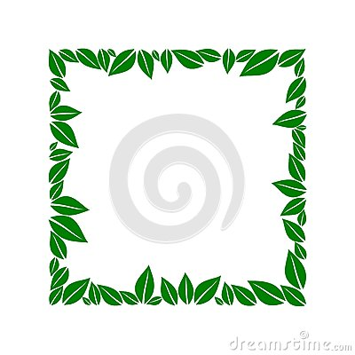 Green leaves box Vector Illustration