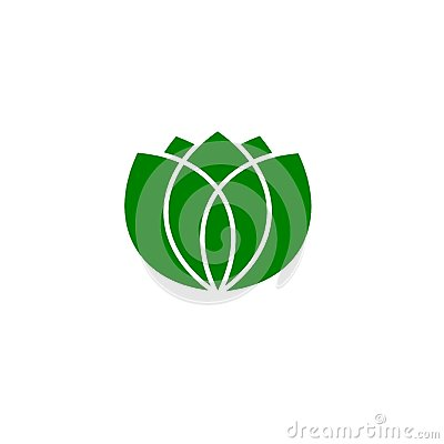Green leaves logo, vector Vector Illustration