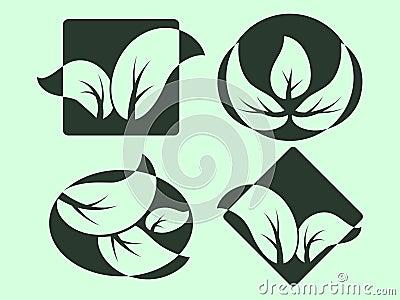 Green Leaves logos