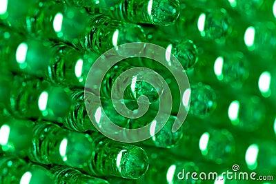 Green led diode display panel