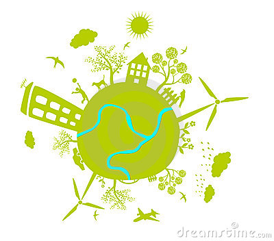 Green life earth vector