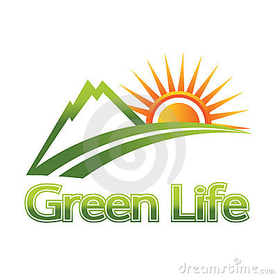 green life logo royalty free stock photography image