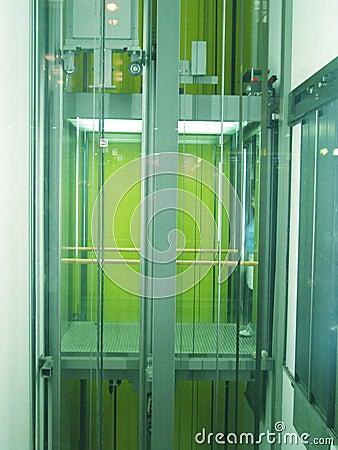 Green lift at n ight