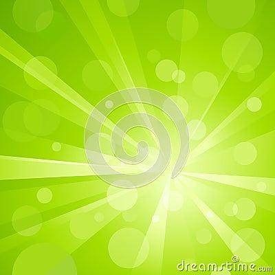 Free Green Light Burst With Shiny Light Dots Royalty Free Stock Photo - 14496345