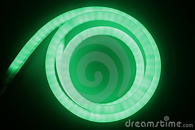 Green light of led lamp