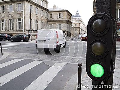 Green light says go