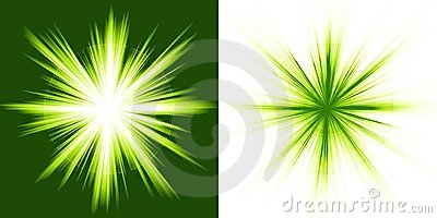 Green light, star burst