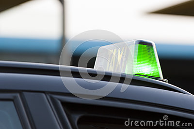Green light on a taxi