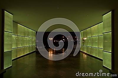 Green light tunnel