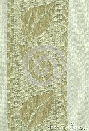 Salad-Green Linen Cloth Close up