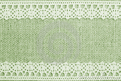 Green Linen And Lace