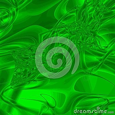 Green Liquid Abstract