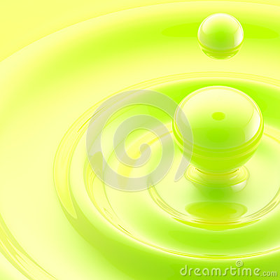 Green liquid drop abstract background