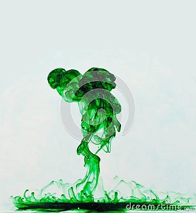 Green Liquid Explosion