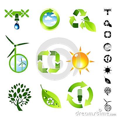 Green Living Icon Set