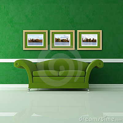 Free Green Living Room Royalty Free Stock Photo - 12093335