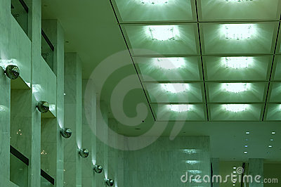 Green Lobby Lights