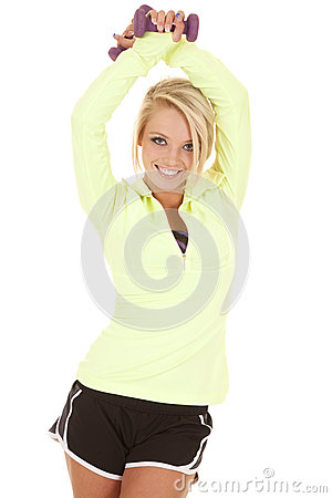 Free Green Long Sleeve Fitness Arms Up Stock Images - 32368264