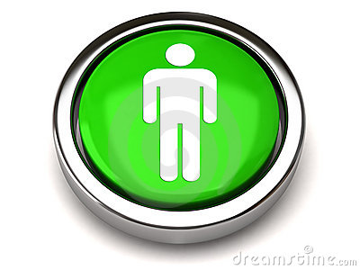Green male icon