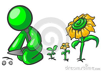 Green man gardener