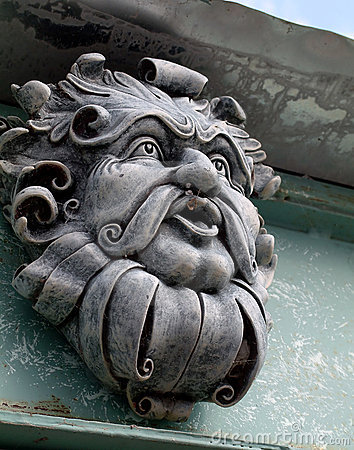 The Green Man Gargoyle Awake