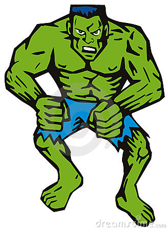 Green man with muscles