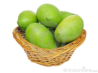 Green Mangoes In A Basket Royalty Free Stock Photo - Image: 14708915