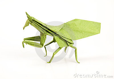 Green mantis origami