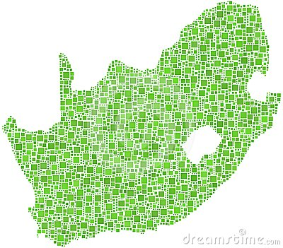 Green map of South Africa